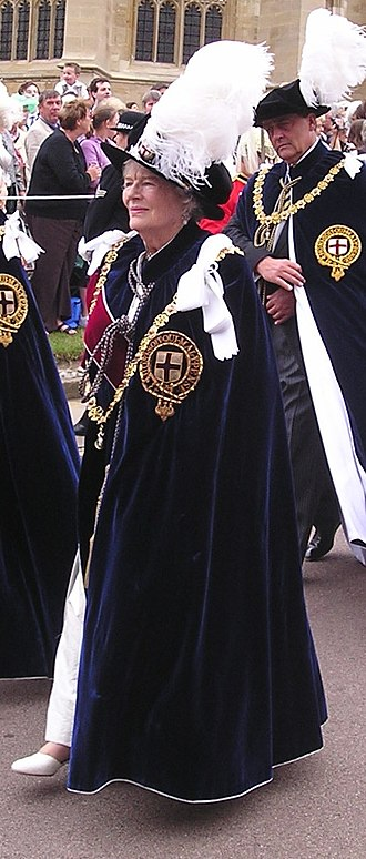 Mary Soames - Lady Soames, taking part in the Garter Day procession to Windsor Castle on 19 June 2006