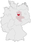 Deutschlandkarte, Position vom Ohrekreis hervorgehoben