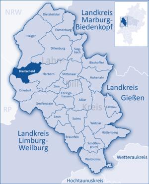 Breitscheid, Hesse - Image: Lahn Dill Kreis Breitscheid
