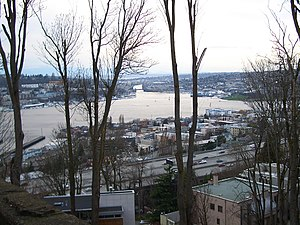 Eastlake, Seattle - Eastlake stretches between I-5 and Lake Union