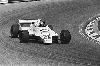 Jan Lammers - Jan Lammers driving the Theodore TY02 at the Dutch Grand Prix in 1982
