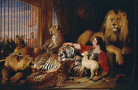 Isaac van Amburgh with his Animals by Sir Edwin Henry Landseer