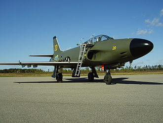 Saab 32 Lansen - A J 32B Lansen at Växjö Air Show 2012. This aircraft is the last to be built