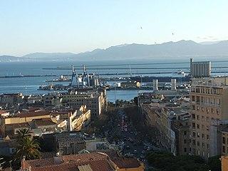Port of Cagliari Italian seaport