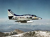 Last bulit A-4 Skyhawk in flight in February 1979.jpg