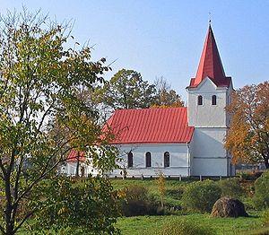 Selonia - The Lutheran church at Laši, Selonia.