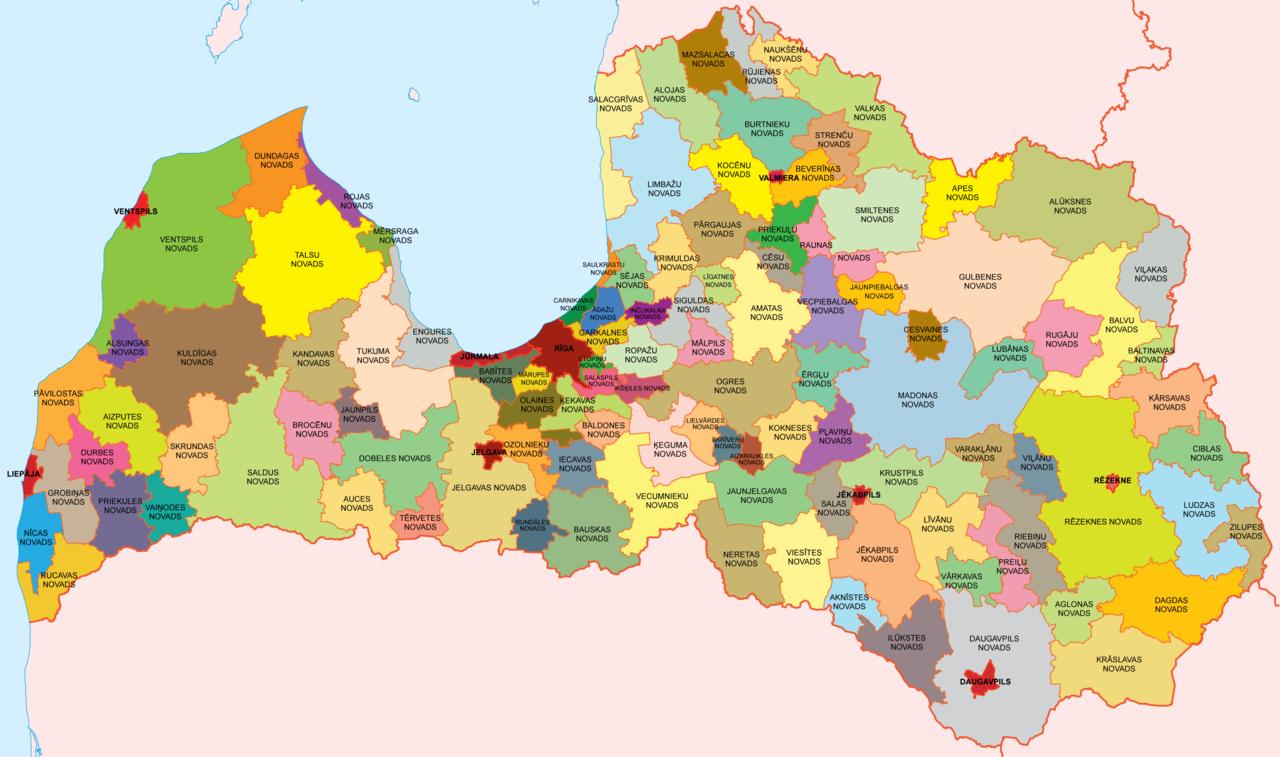 Pembagian wilayah administratif Latvia