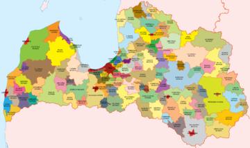 Latvijas novadi (krāsās)
