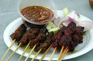 Singapore-style Satay at Lau Pa Sat's Satay Club
