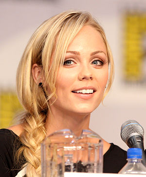 Laura Vandervoort at the 2010 Comic Con in San...