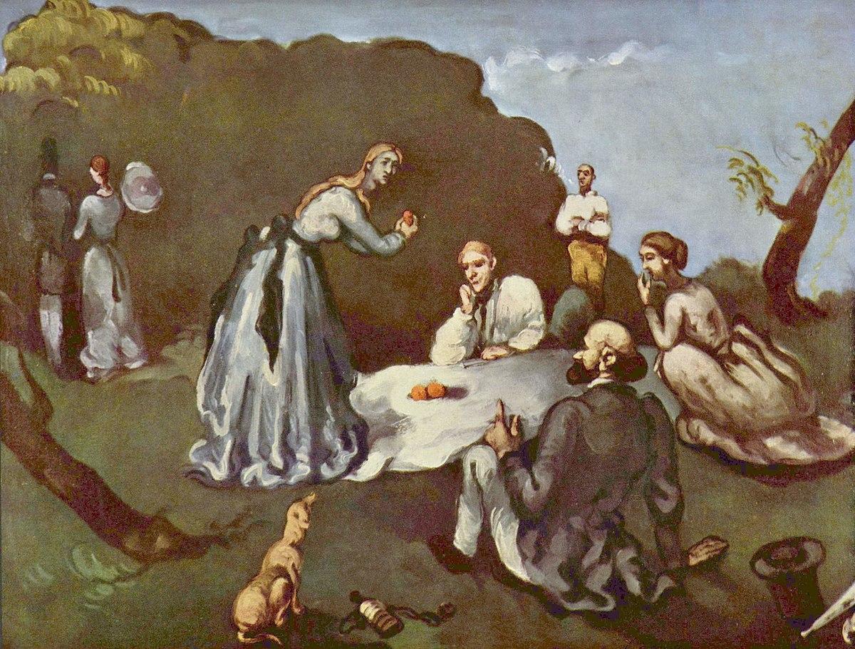 Le Dejeuner sur l'herbe, par Paul Cezanne, coll. privee, Yorck.jpg