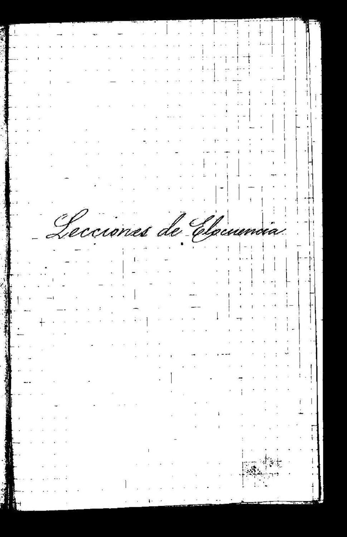 Lecciones de elocuencia, manuscrito.