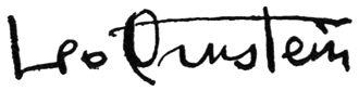Leo Ornstein - Image: Leo Ornstein's signature