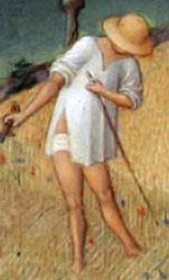 Undergarment - A loincloth in 1412 Très Riches Heures du Duc de Berry