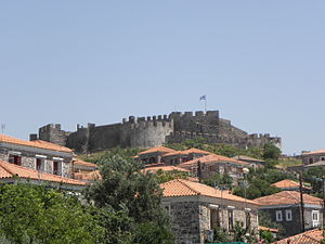 Mithymna - View of the fortress