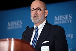Lew Rockwell - Lew Rockwell speaking at an event hosted by the Mises Institute.