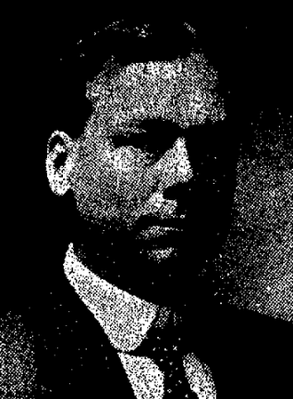Lewis H. Sweetser - Lewis Sweetser pictured in a 1908 newspaper