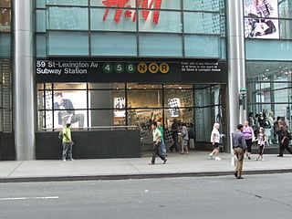 Lexington Avenue/59th Street station New York City Subway station complex in Manhattan