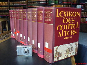 Reference work - The Lexikon des Mittelalters (Dictionary of the Middle Ages), a specialised German encyclopedia