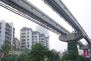 Light rail in Chongqing city