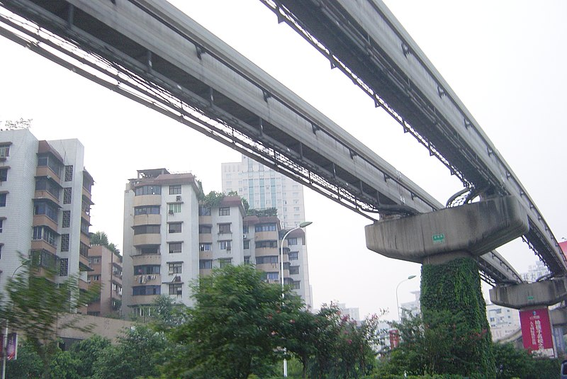 Light rail in Chongqing city.JPG