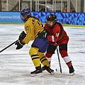 Lillehammer 2016 - Women hockey - Sweden vs Switzerland 15.jpg