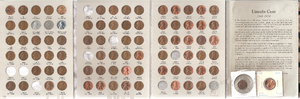 Whitman Publishing - A coin folder featuring Lincoln cents ranging in date from 1941 to 1974
