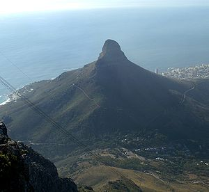 Lion's Head (Cape Town) - Lion's Head as seen from Table Mountain