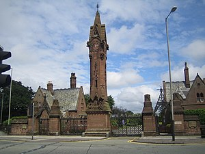 Anfield Cemetery - Image: Liverpool, Anfield Cemetery Clock Tower geograph.org.uk 471374