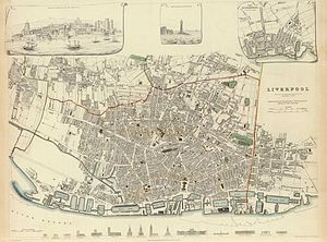 Timeline of Liverpool - Map of Liverpool, 1836