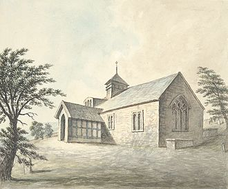 Llangynyw - Llangyniw church, 1794
