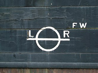 Lloyd's Register - The Lloyd's Register load line on the hull of the Cutty Sark