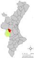 Localització de Cortes de Pallars respecte del País Valencià.png