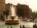 London, fountain in Trafalgar Square - geograph.org.uk - 1500346.jpg