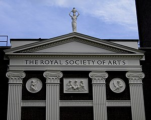 Royal Society of Arts - The Royal Society of Arts, back of the building in London, England