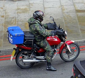 Motorcycle courier - Motorcycle courier in London, England
