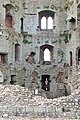 Looking into the hexagonal Great Tower, Raglan Castle - geograph.org.uk - 1531754.jpg