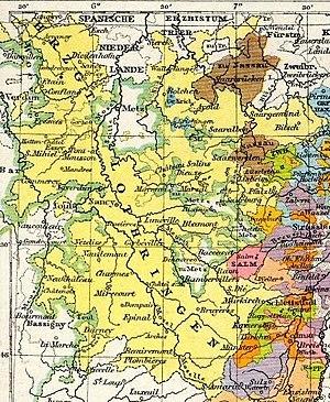 Duchy of Lorraine - Image: Lorraine 1618 1648