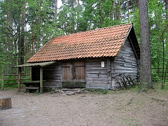 Forge - A smithy built around 1880 in Mērsrags, Courland, Latvia currently located at The Ethnographic Open-Air Museum of Latvia