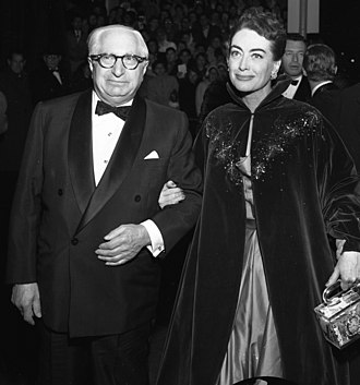 "Louis B. Mayer - Mayer with Joan Crawford at the premiere of Torch Song, 1953. ""To me,"" she once stated, ""L.B. Mayer was my father, my father confessor, the best friend I ever had."""
