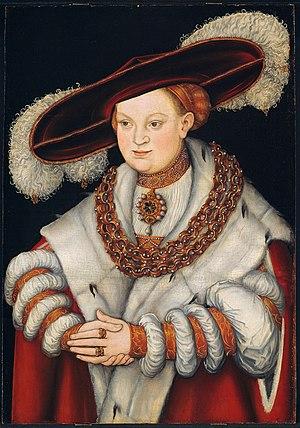 Magdalena of Saxony - Image: Lucas Cranach d.Ä. Bildnis der Magdalene von Sachsen (Art Institute of Chicago)