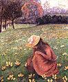 Lucien-pissarro-Girl picking flowers.jpg