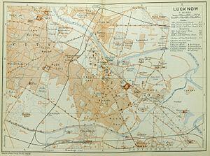 Lucknow (Baedeker, 1914)