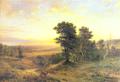 Ludwig Menke Alter Postweg am Rande der Senne 1864.png