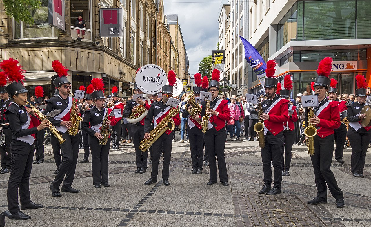File Luxembourg Marching Band In Full Action 01 Jpg Wikimedia