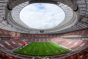 2018 FIFA World Cup Final - The interior of the Luzhniki Stadium.