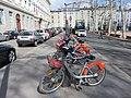 Lyon 2e - Station Vélo'v 2002 place Bellecour (mars 2019).jpg