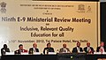 M.M. Pallam Raju and the Minister of State for Human Resource Development, Dr. Shashi Tharoor at the closing of E9 MINISTERIAL REVIEW MEETING on Inclusive Relevant and Quality Education for All, in New Delhi.jpg