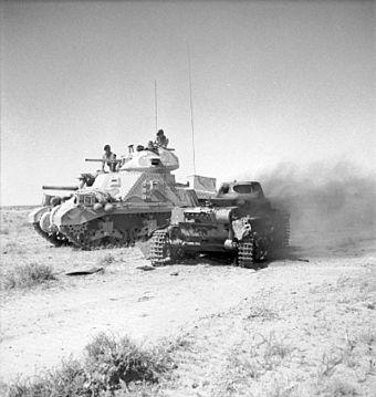 M3 Grant with knocked out Panzer I, 1942 M3 Grant with knocked out Panzer I 1942.jpg