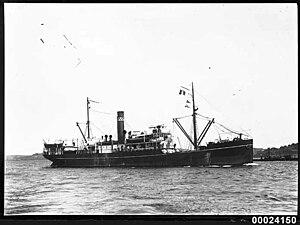 SS Makambo - Image: MAKAMBO of Burns Philp & Co at anchor